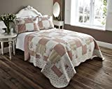 LIGHTWEIGHT COUNTRY COTTAGE PRINTED BED COVER THROW SET (single)