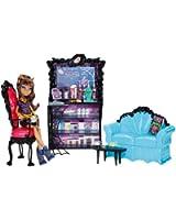 Mattel - Monster High - X3721 - poupées mannequins - Coffret Clawdeen et son café Post mortem (poupée incluse)