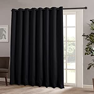 Onlycurtain Thermal Insulated Blackout Patio Door Curtain Panel Sliding Door