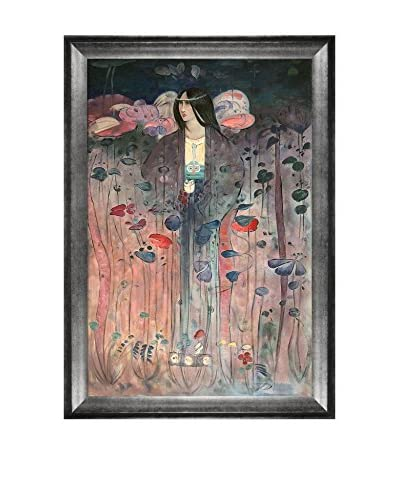 "Charles Rennie Mackintosh's ""Untitled"" Framed Hand Painted Oil On Canvas, Multi"