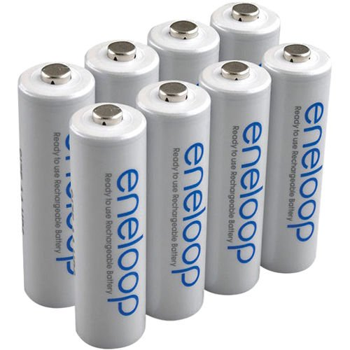 NEW Sanyo Eneloop 3rd generation 8 Pack AA NiMH Pre-Charged Rechargeable Batteries-Newest version-FREE BATTERY HOLDER- Rechargeable 1800 times
