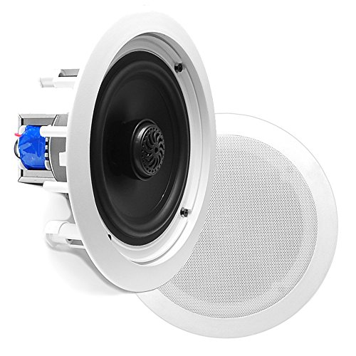 Pyle PDIC80T In-Wall / In-Ceiling Dual 8-inch 2-Way Speaker System, White (Pair)