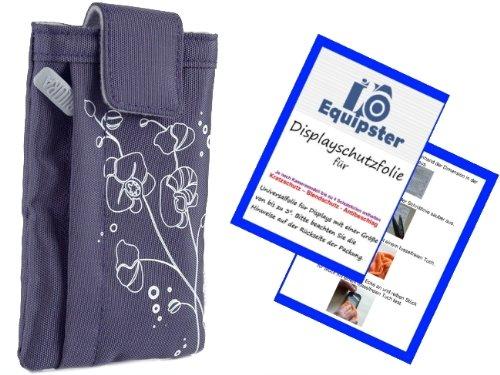 Poppige Design Kamera Tasche in midnight SCHWARZ + equipster Displayschutzfolie - Kameratasche - tolles Design und stylischer Aufdruck - ideal für Samsung DV150F - ST150F - ST72 - ST77 - WB200F - WB250F - ES30 - ES65 - ES70 - ES73 - ES75 - ES80 - ES81 - MV800 - PL100 - PL120 - PL150 - PL170 - PL20 - PL200 - PL210 - PL80 - PL90 - ST65 - ST6500 - ST66 - ST70 - ST77 - ST80 - ST90 - ST93 - WB150F - WB2000 - WB210 - WB600 - WB650 - WB700 - WB750 - WB850F - WP10