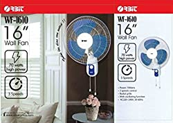 Orbit WF 1610 White & Blue Wall Fan