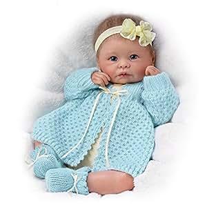 "Amazon.com: 16"" Linda Murray Sweetly Snuggled Sarah Weighted Lifelike"