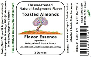 Toasted Almonds By Flavor Essence Unsweetened Natural Background Flavoring 2 Oz In Beverages Coffeetea Shakessmoothies Bar Drinks In Foods Baking Doughsbatters Frostings Yogurt by Flavor Essence