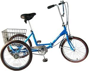 Worksman Port-o-Trike Three Speed Adult Tricycle Blue by Worksman Cycles