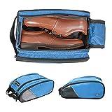 (バッグスマート)BAGSMART シューズケース 靴袋 靴入れ ダブルジッパー式 旅行 出張 ジム用 プレゼント ギフト