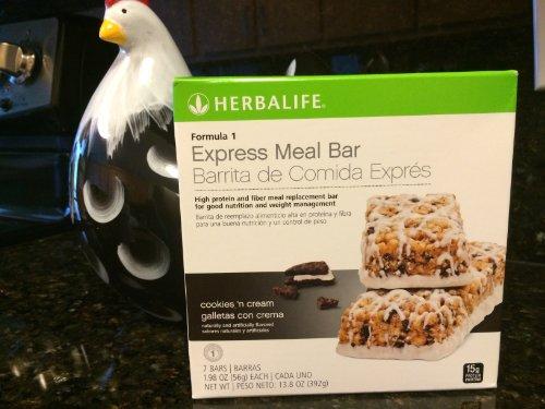 Herbalife Formula 1 Express Meal Bar, Cookies 'N Cream Cookies 'N Cream 7 Bars Per Box