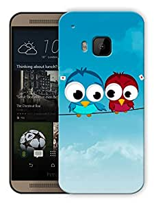 "Humor Gang Love Birds In Sky Printed Designer Mobile Back Cover For ""HTC ONE M9"" (3D, Matte, Premium Quality Snap On Case)"