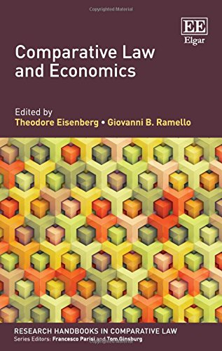 Comparative Law and Economics (Research Handbooks in Comparative Law series)