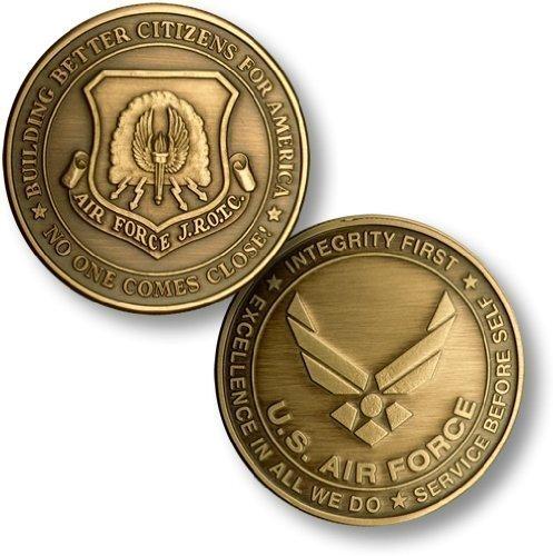 JROTC New Air Force Emblem Bronze Antique Challenge Coin