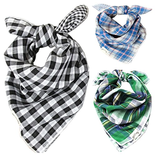 Thenice Baby Bandana Drool Cotton Bibs Scarf Set (Boy 3pcs)