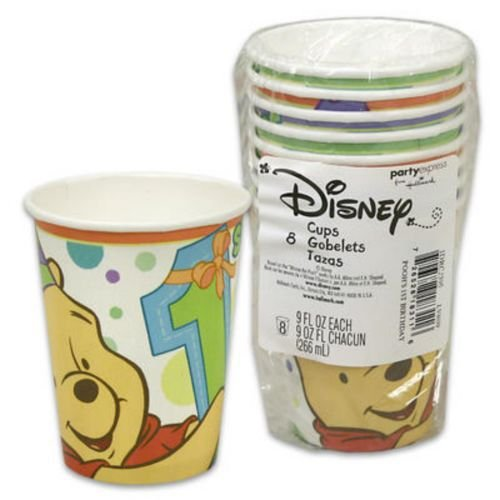 Winnie the Pooh Boy or Girl 1st Birthday Paper Cups (8ct)
