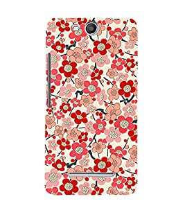 Bloomy Flowers 3D Hard Polycarbonate Designer Back Case Cover for MicromaxBoltQ338