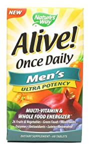 Nature's Way Alive Once Daily Mens Multi Ultra Potency Tablets - 60 Count, 6 Pack
