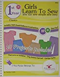 Kids Can Sew® Girls Learn to Sew 1st Year Sewing Pattern Book Packet - Classic Clothing Styles