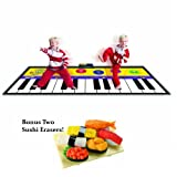 Largest Piano Mat with Two Bonus Sushi Erasers