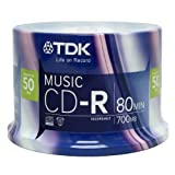 TDK Life On Record Music CDR 52x, 50 Pack Spindle