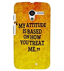 FUSON 3D Designer Back Case Cover for MOTOX D9884