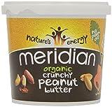 Meridian Bio crunchy Erdnussbutter - ohne Zuckerzusatz und ohne Zusatz von Salz - 1kg