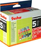 5 Geha Tintenpatronen im Multipack fr Canon ersetzt Nr. CLI-8 farbig + CLI-8BK schwarz + PGI-5BK schwarz