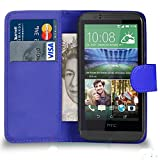 PU LEATHER CASE COVER FLIP WALLET CASE FOR HTC DESIRE 310 (BLUE)