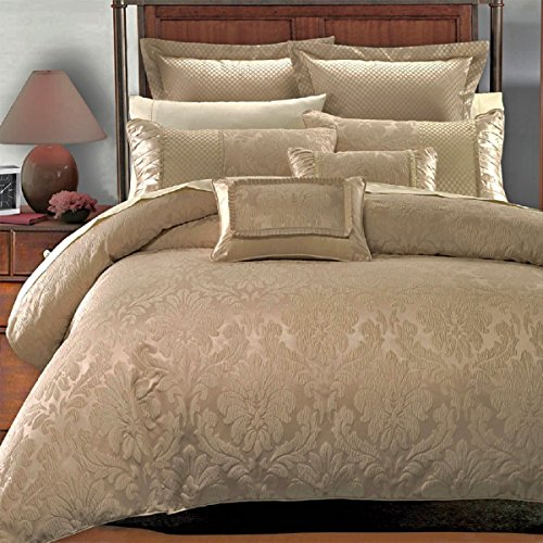 Hilton Hotel Collection Bedding: 7PC- King/Cal-King Sara Jacquard Duvet Cover Set By Hotel