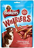 Bakers Whirlers Bacon and Cheese Dog Treats 175 g (Pack of 6)