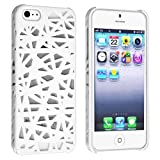 Hollow-out Bird Nest Mesh Hard Cover Case Skin for iPhone 5S (White)