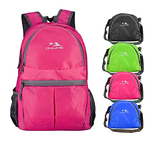 qyuher-ultra-lightweight-packable-backpack-hiking-daypack-travelling-backpack-rose-red