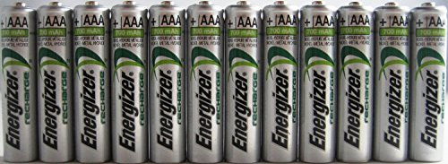 Pack of 20 Energizer NH12 700 mAh NiMH AAA Pre-Charged Rechargeable Battery - Bulk Pack