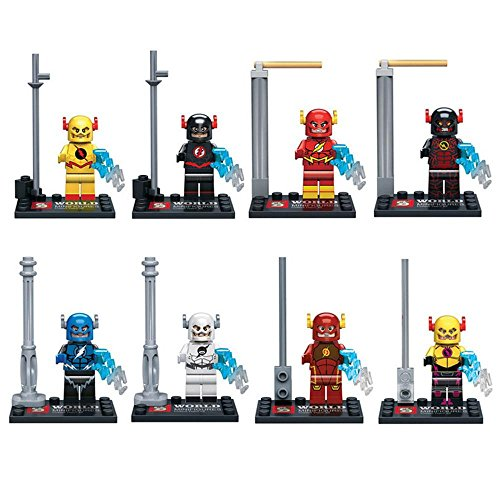 Flash Man MiniFigures Toy Super Heroes Series Action Figure Building Blocks Set Compatible Lego (Super Hero Squad Helicarrier compare prices)