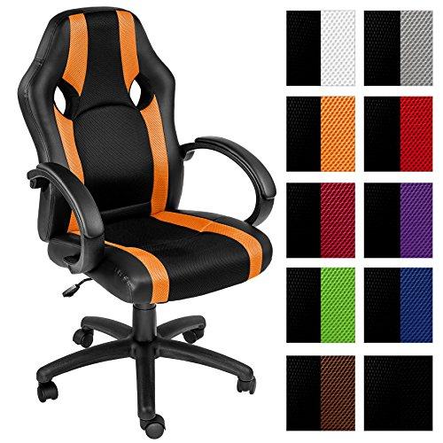 TecTake Silla de oficina sillon de despacho ejecutivo estudio giratoria racing - disponible en diferentes colores - (naranja | no....