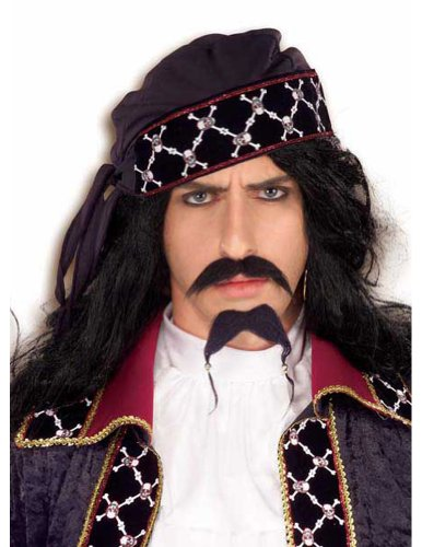 Costume-Accessory Pirate Mustache And Beard Halloween Costume Item - 1 size