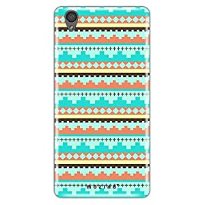 Mozine Blue Tribal Pattern printed mobile back cover for Oneplus X