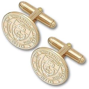 Texas Longhorns Seal 14KT Gold Cuff Links - 1 Pair by Logo Art