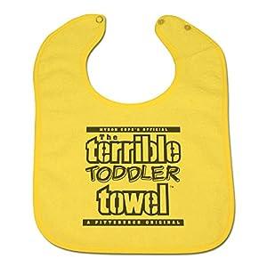 Pittsburgh Steelers Myron Cope Terrible Toddler Towel Bib