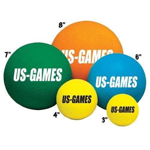 Us-Games Uncoated Economy Foam Balls (6-Inch)