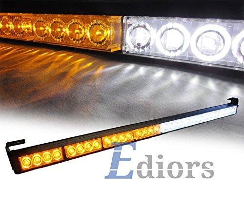 """Ediors 35.5"""" Led Traffic Adviser / Advising Emergency Warning Strobe Light Bar - Amber/White"""