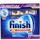 Finish Quantum Dishwasher Detergent, 25-Count