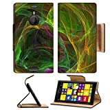 Luxlady Premium Nokia Lumia 1520 Flip Case Vector Illustration of digital fractal IMAGE 38273650 Pu Leather Card Holder Carrying