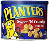 Planters Sweet N' Crunchy Peanuts, 10-Ounce Canisters (Pack of 6)