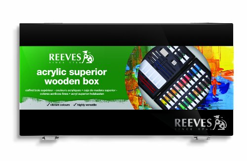 Reeves Superior Acrylic Wooden Box - 26 Tubes