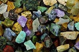 Hypnotic Gems Materials: 2 lbs (BEST VARIETY) of a 28 Stone Extraordinary Mix From Madagascar - 28 Different Stone Types in EVERY bag! Raw Natural Rough Rock Crystals for Tumbling, Cabbing, and More!