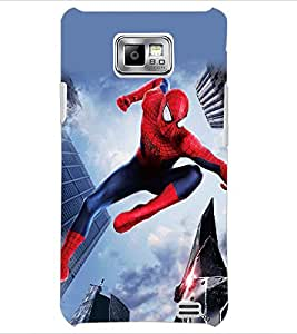 PrintDhaba Spiderman D-5611 Back Case Cover for SAMSUNG GALAXY S2 (Multi-Coloured)