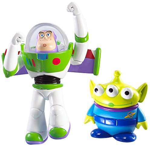 Disney/Pixar Toy Story 20th Anniversary Flying Buzz Lightyear and Alien Figure Buddy 2-Pack by Mattel