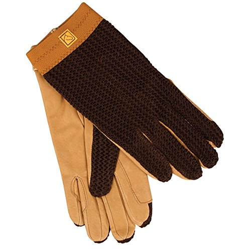 Lycrochet Ultraflex Gloves - Brown Pair Size 9 front-1066675