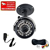 51xTRqfimUL. SL160  VideoSecu CCTV Infrared Night Vision Security Camera Built in Audio Microphone 30 IR Leds with Camera Power Supply and Extension Cable IR806SAKC W99