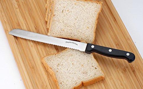 Stainless Steel Kitchen Knife Set Wooden Butcher Block 13